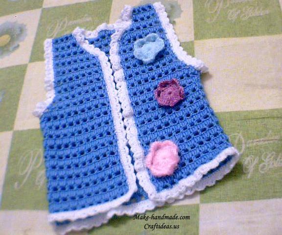 钩针乐园 儿童毛衣钩织 菠萝花宝宝背心裙的钩法图解