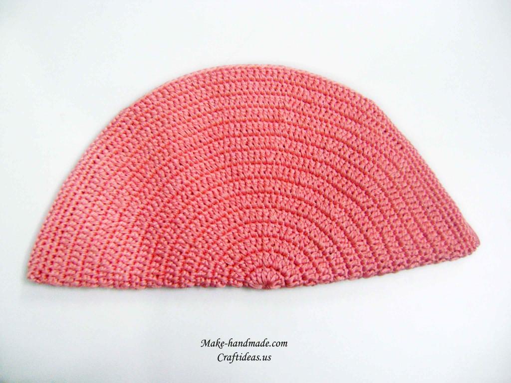 crochet half circle handbag