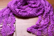 crochet lace women scarf, crochet pattern