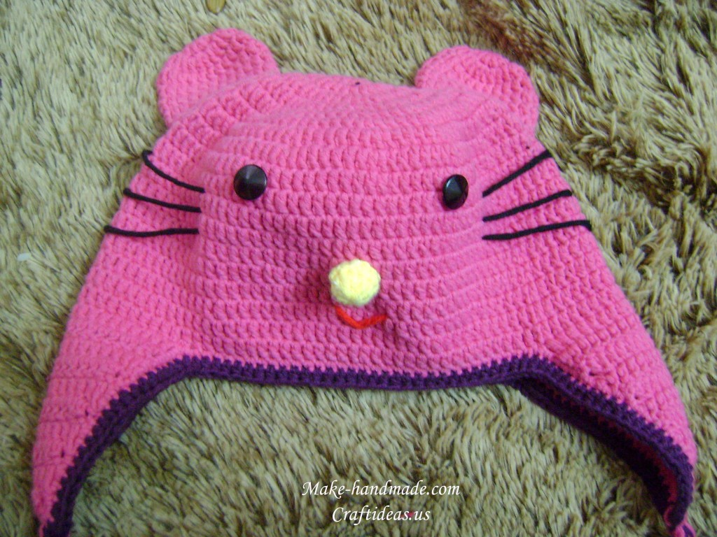 crochet hello kitty bag and hat make handmade, crochet ...