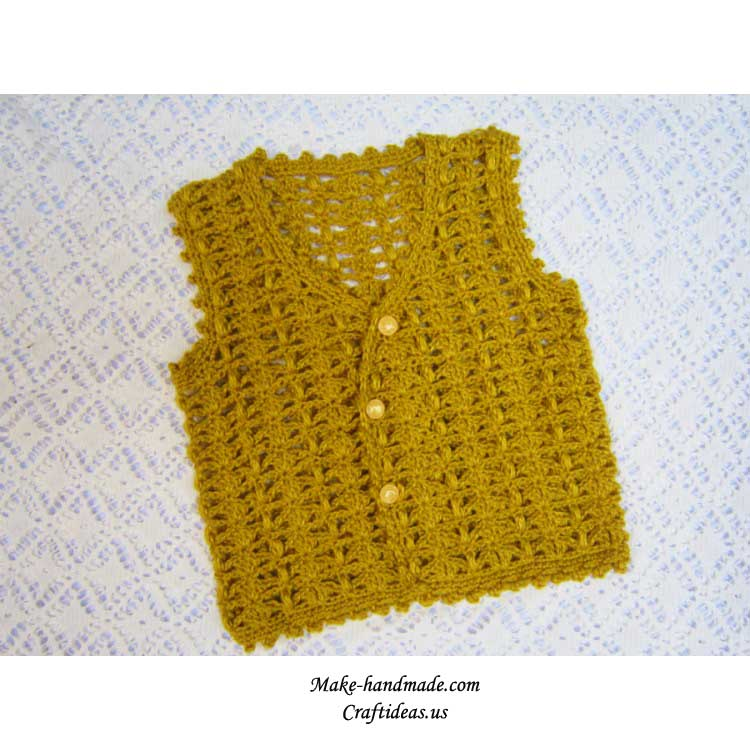 Crochet Baby Vest And Jacket Crochet Pattern Make Handmade
