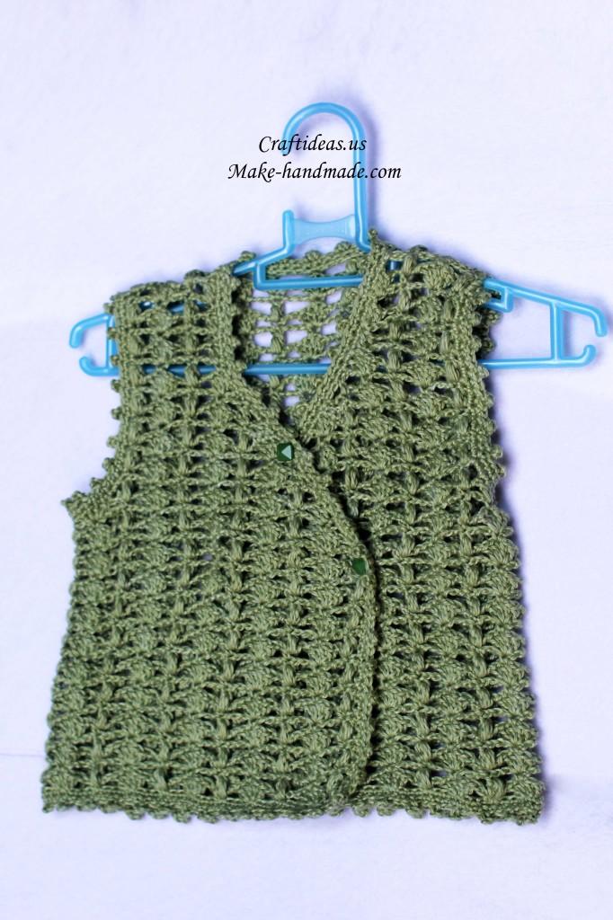 crochet lace baby vest