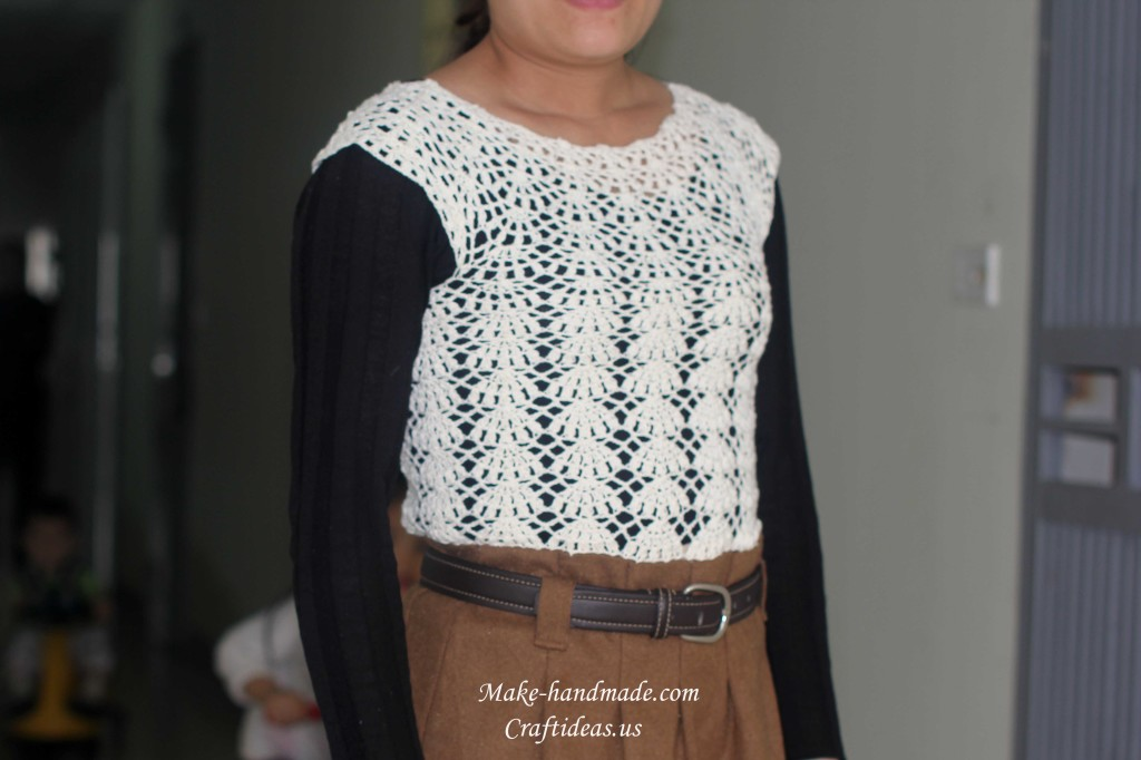 crochet lace beauty top for dress