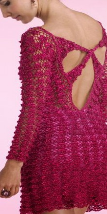 crochet lace dress with fance stitch