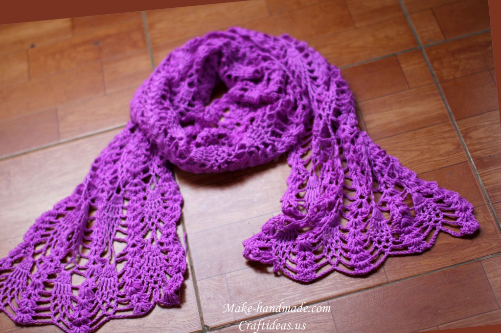 crochet lace scarves ideas