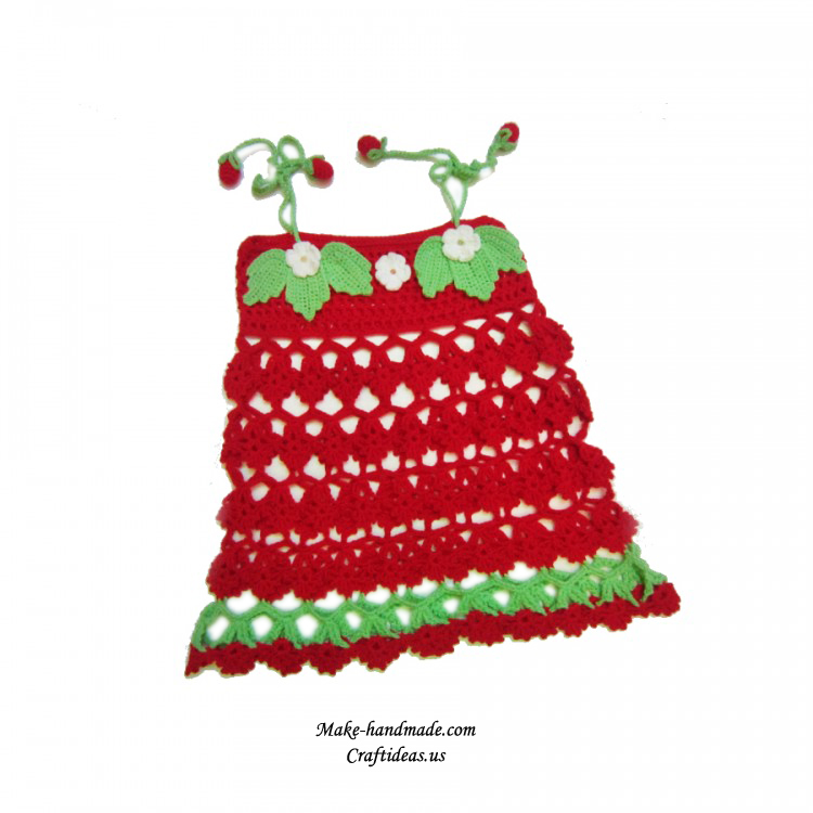 crochet lace strawberry baby dress