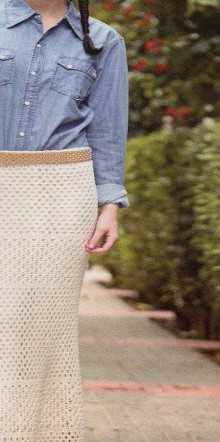 crochet long skirt for lady