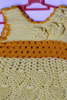 crochet pineapple baby dress