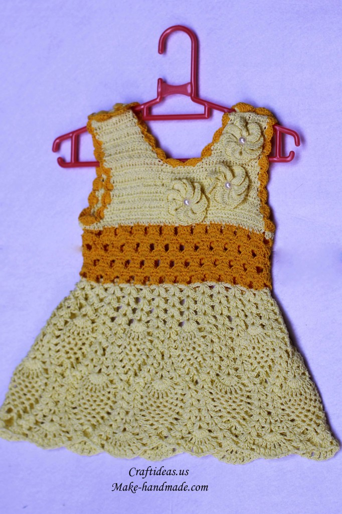 crochet pineapple dress