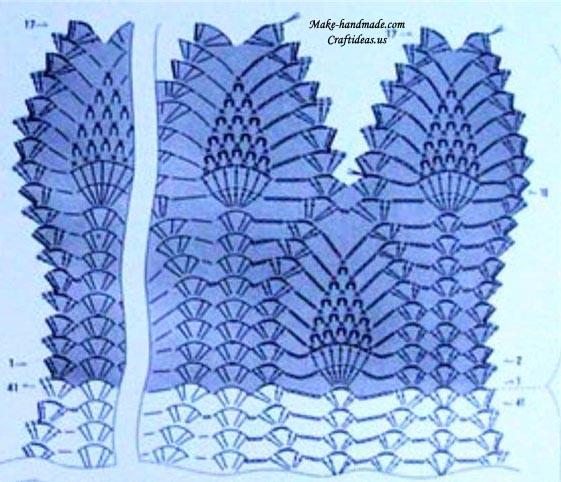 crochet pineapple scarf