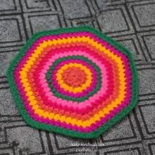crochet rug or stool cover