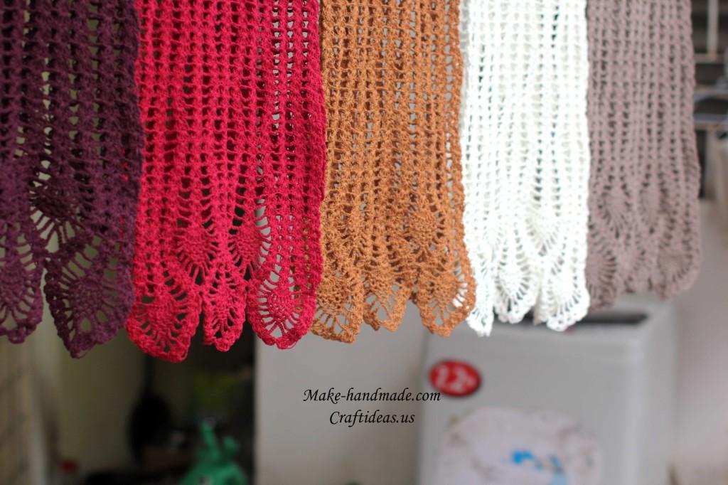 crochet scarves idea