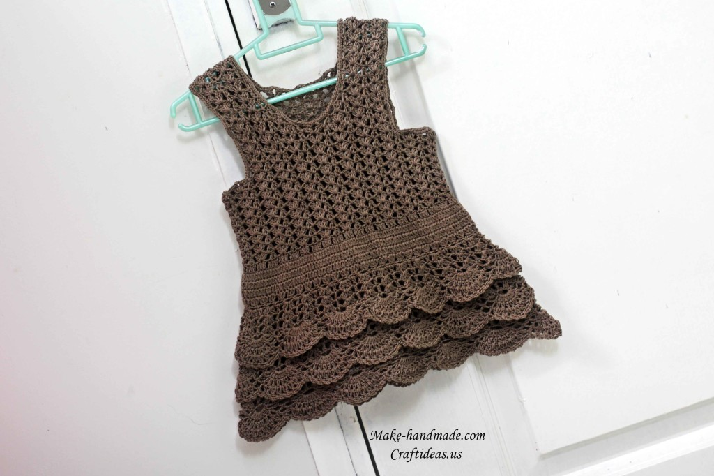 crochet so cute baby dress