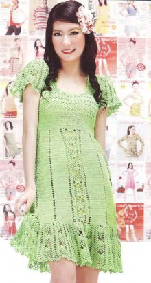 crochet summer girl dress, crochet pattern