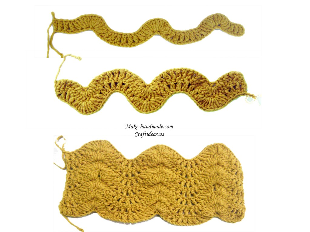 crochet wave tutorial