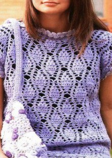 purple tunic with floral patterns