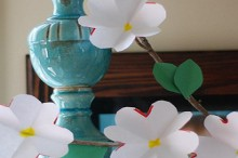spring flowers: paper dogwood craft tutorial