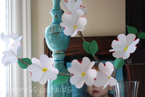 Spring Flowers Paper Dogwood Craft Tutorial Make Handmade