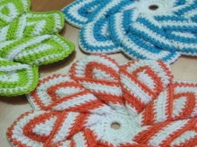 crochet 3d flower with 9 petals
