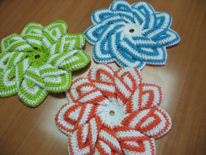 Crochet 3d Flower With 9 Petals Make Handmade Crochet Craft