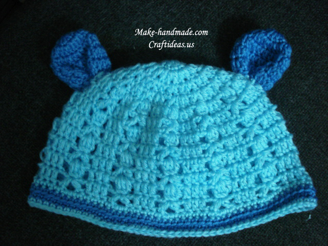 crochet animal baby hat