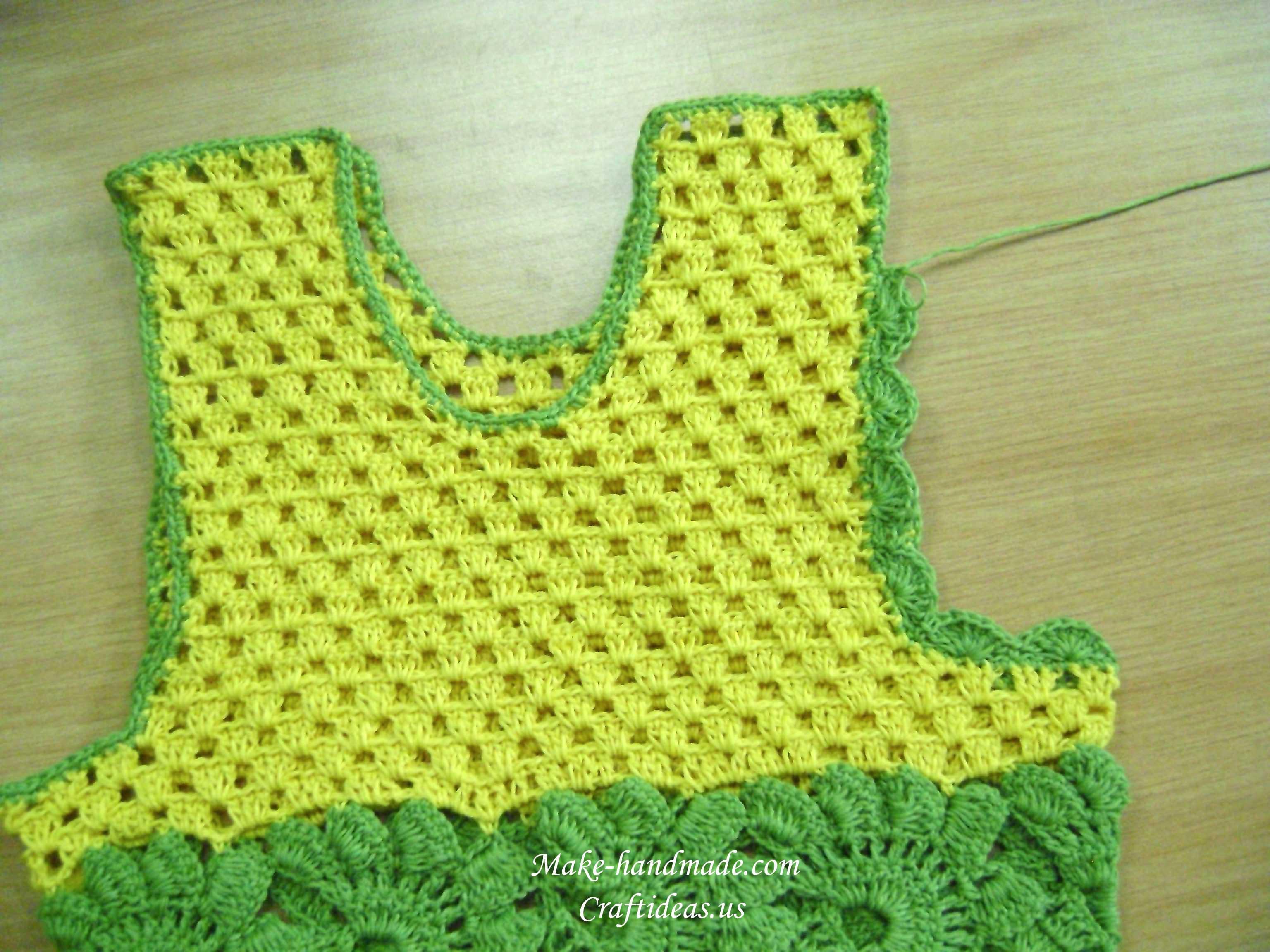 crochet baby dress ideas