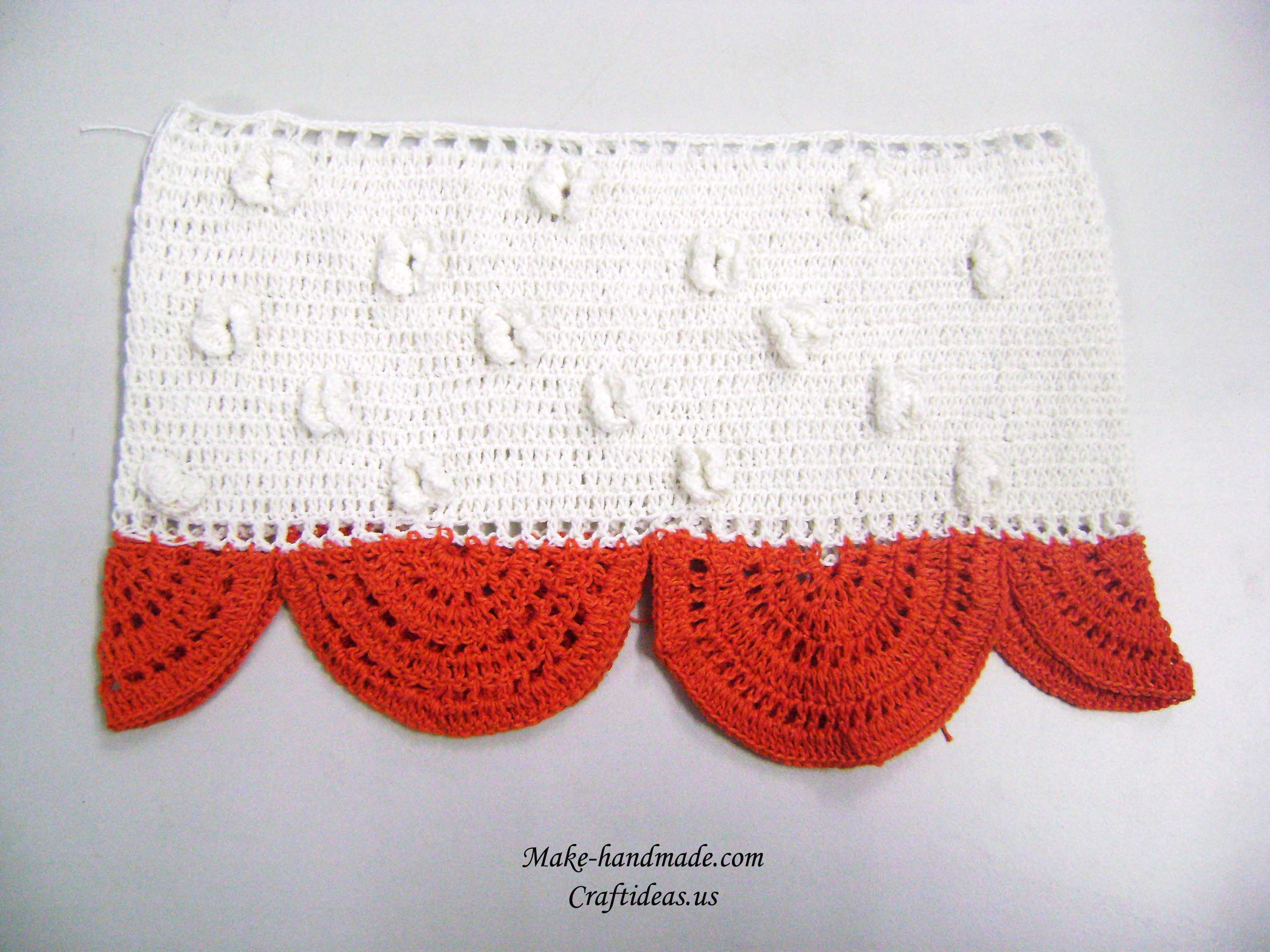 crochet baby dress with half circle for layers