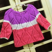 crochet diamond shapes for baby sweater