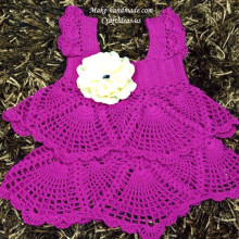 crochet beauty lace sun dress for baby