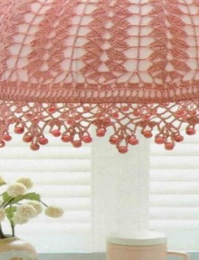 crochet beauty lampshade, crochet pattern