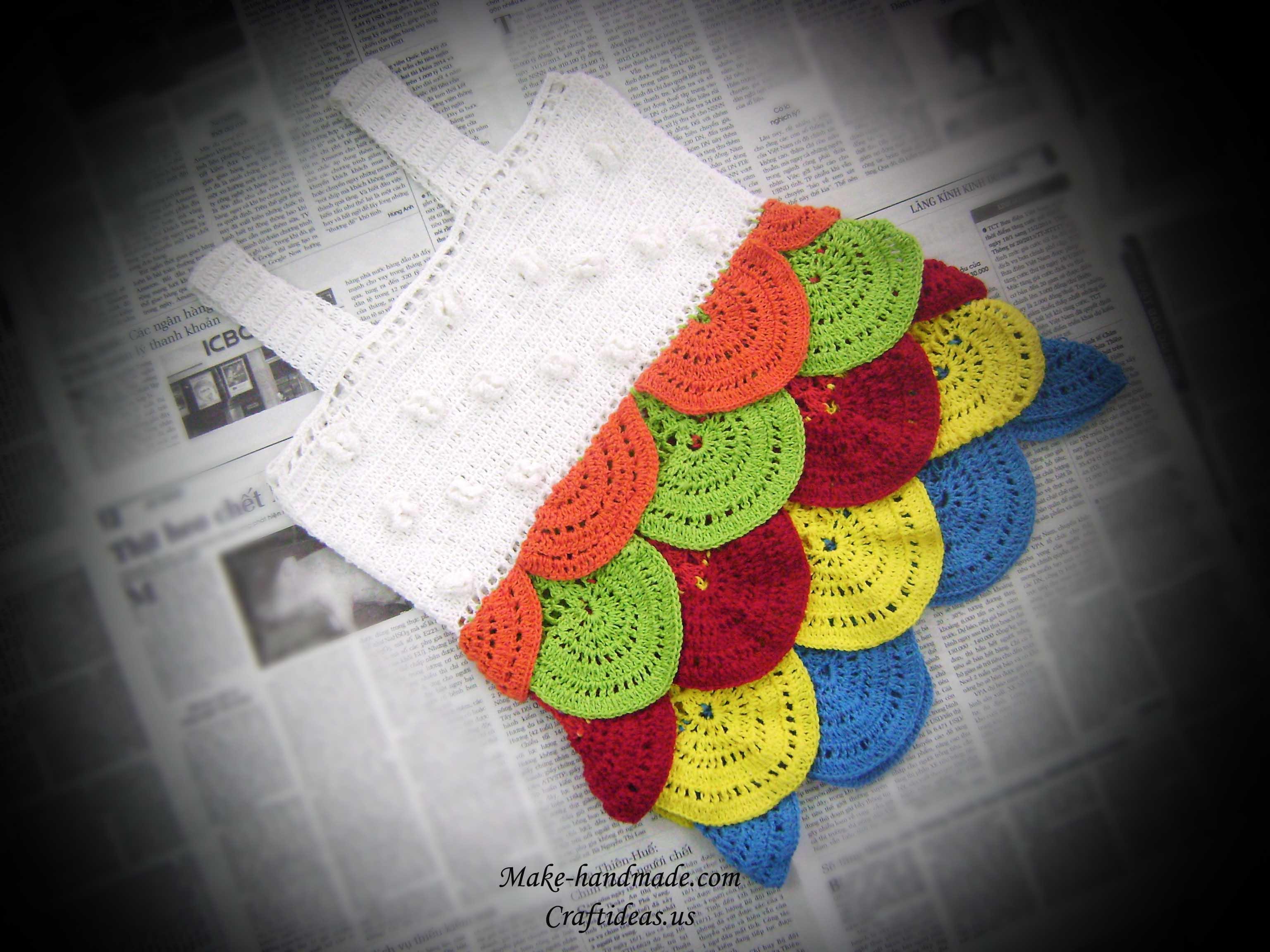 crochet beauty layers baby dress