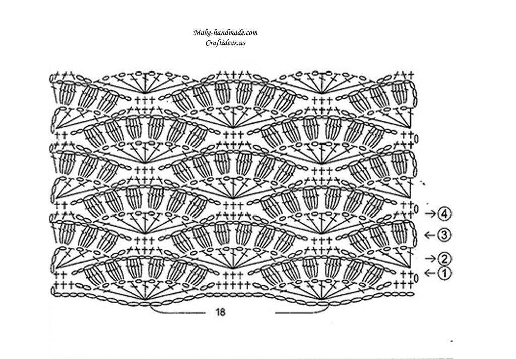 crochet beauty pattern diagram