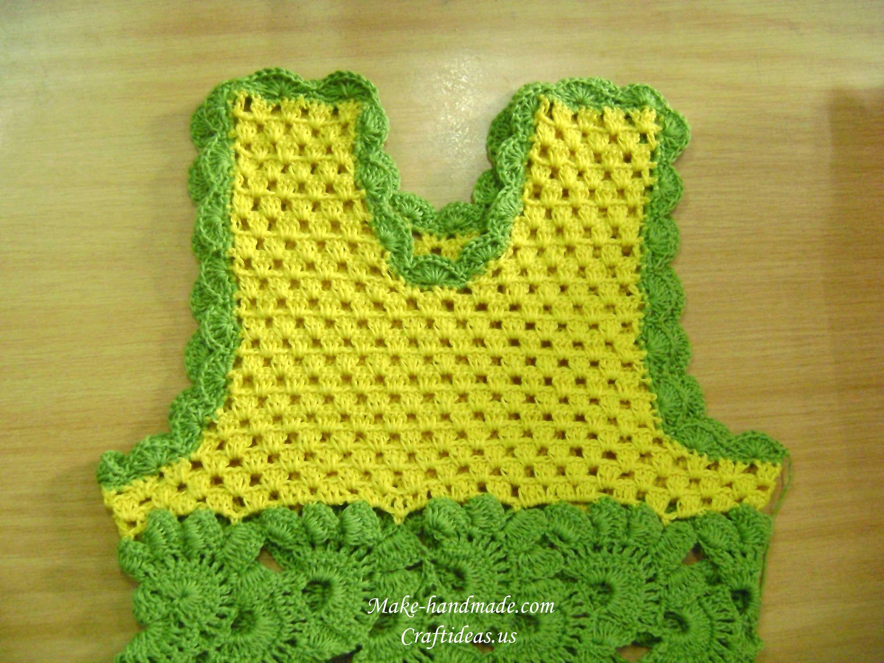 orilla de ganchillo para el vestido de bebé