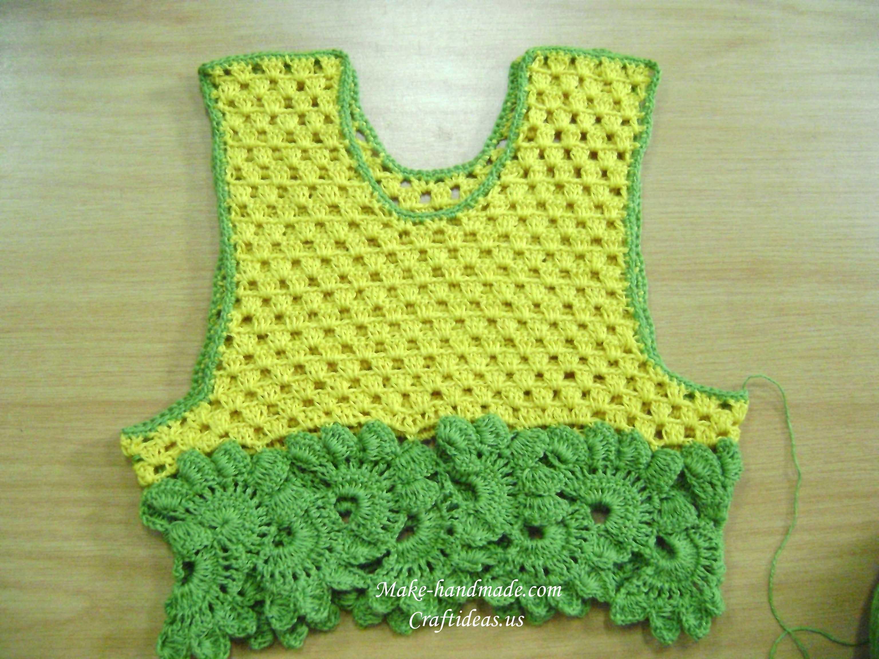 crochet border for baby top