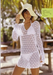 crochet charming dress and tunic for beach