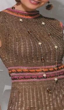 crochet charming lace summer dress, crochet pattern