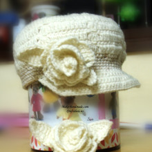 crochet cute cap for girl