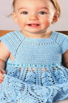 crochet cute leaves baby dress, crochet pattern