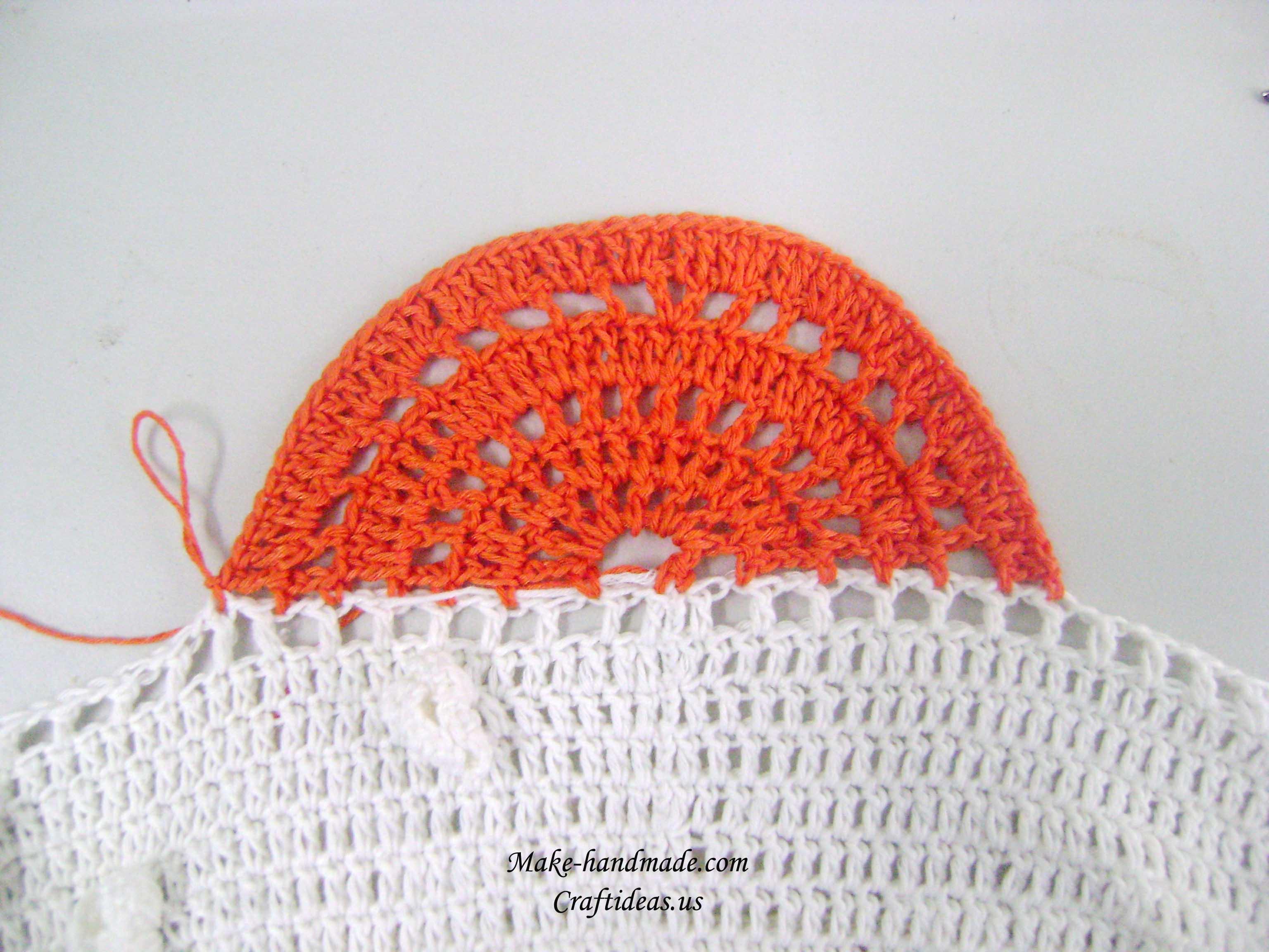 crochet fish skin baby dress