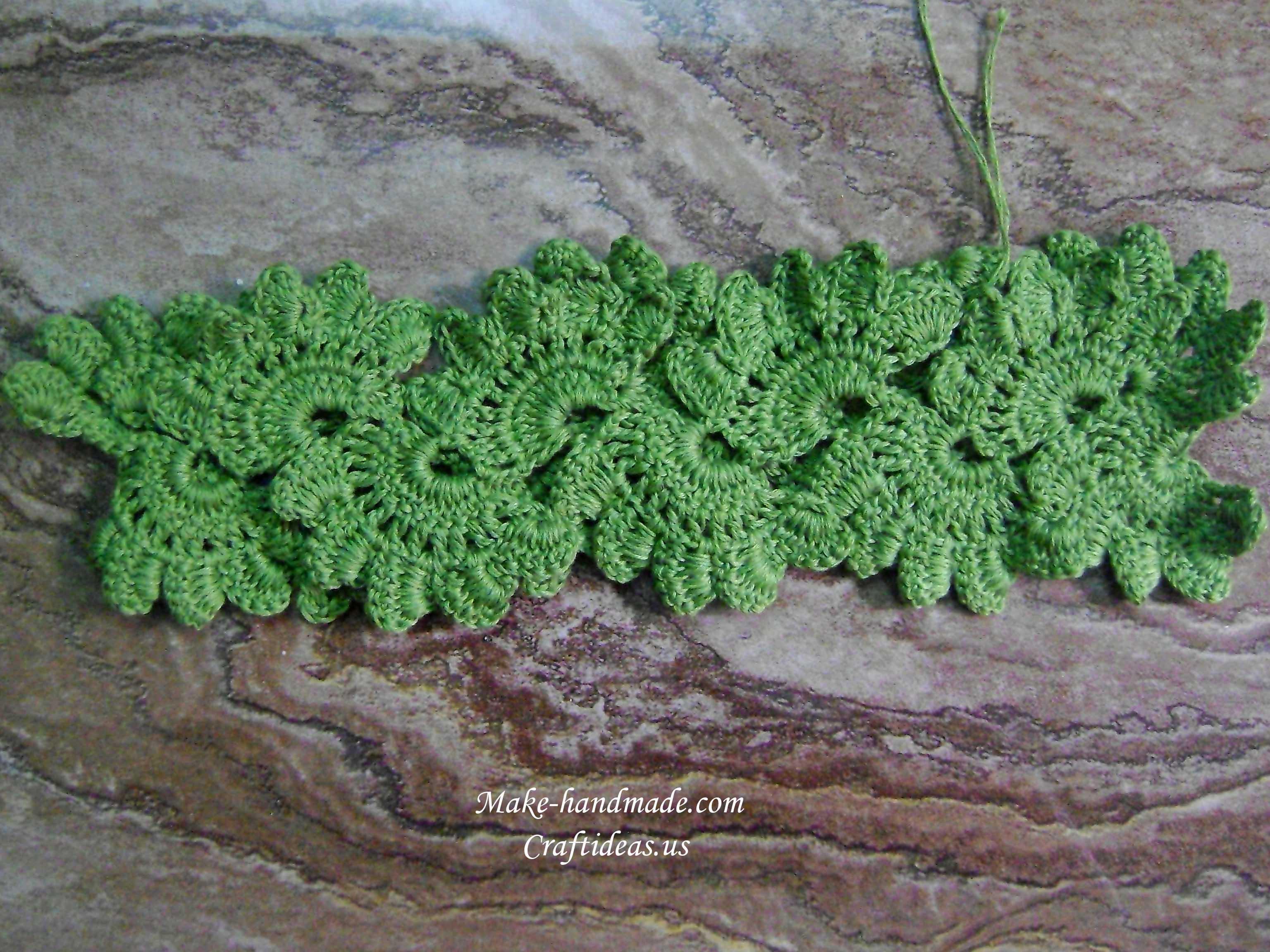 crochet flower for fashion