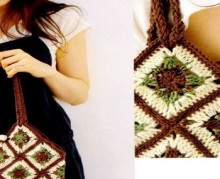 crochet handbag with granny squares