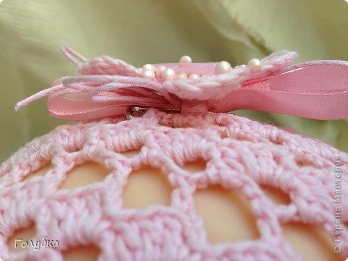 Гардероб Вязание крючком Нежно розовый берет Пряжа фото 6
