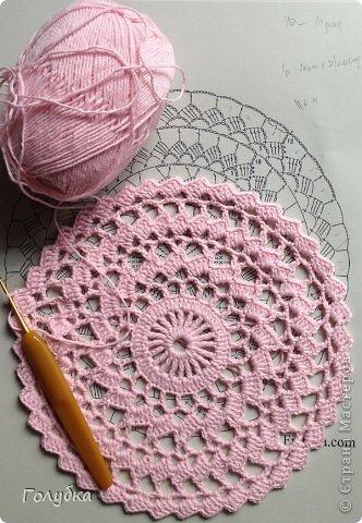 Гардероб Вязание крючком Нежно розовый берет Пряжа фото 8