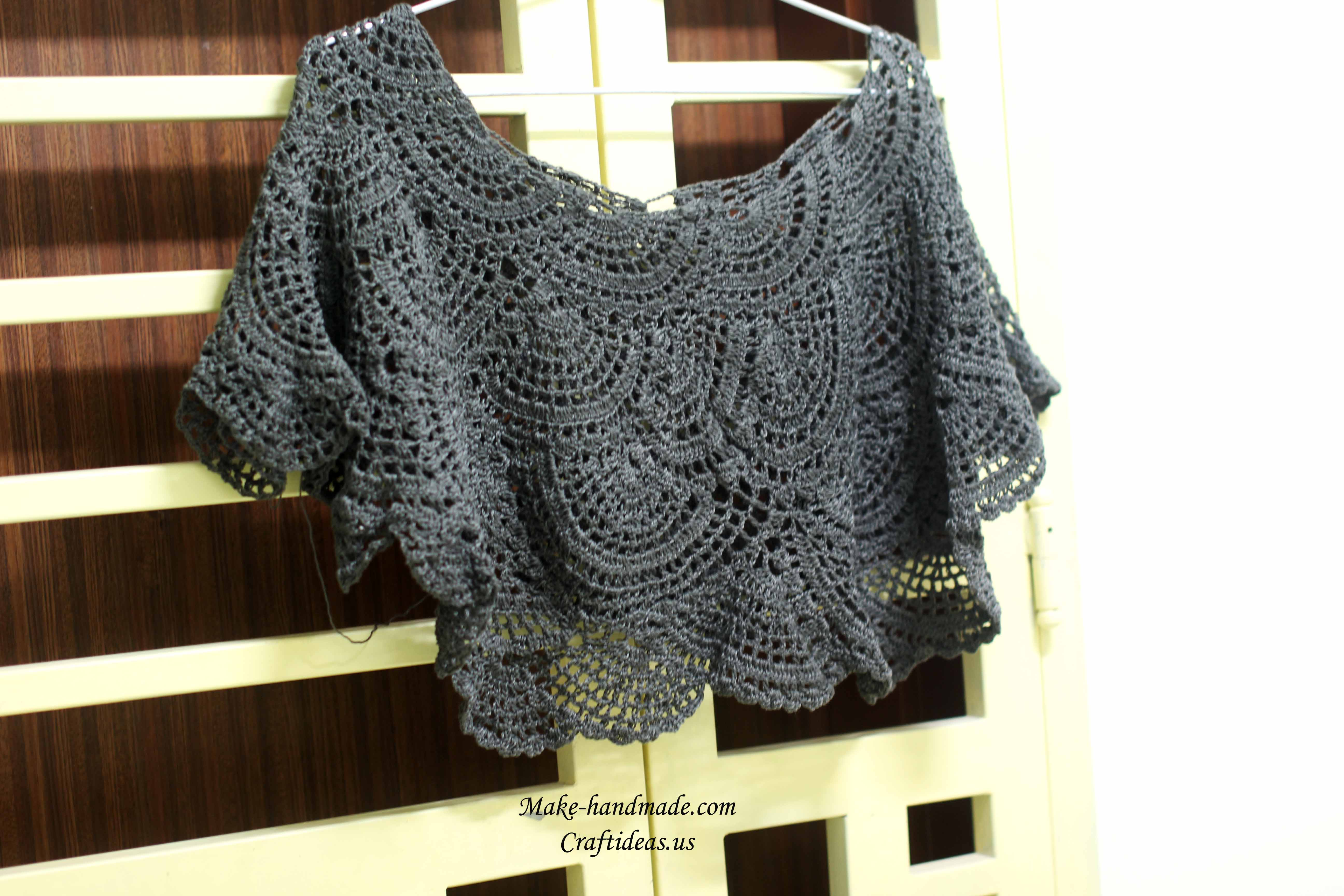 crochet so cute skirt and poncho 2 in 1 | make handmade, crochet, craft