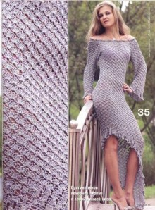 crochet lilac charming dress