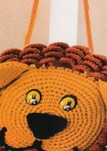 crochet lion purse for kids, crochet pattern