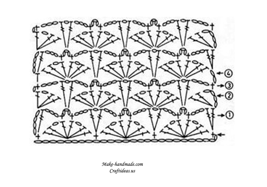crochet poncho diagram
