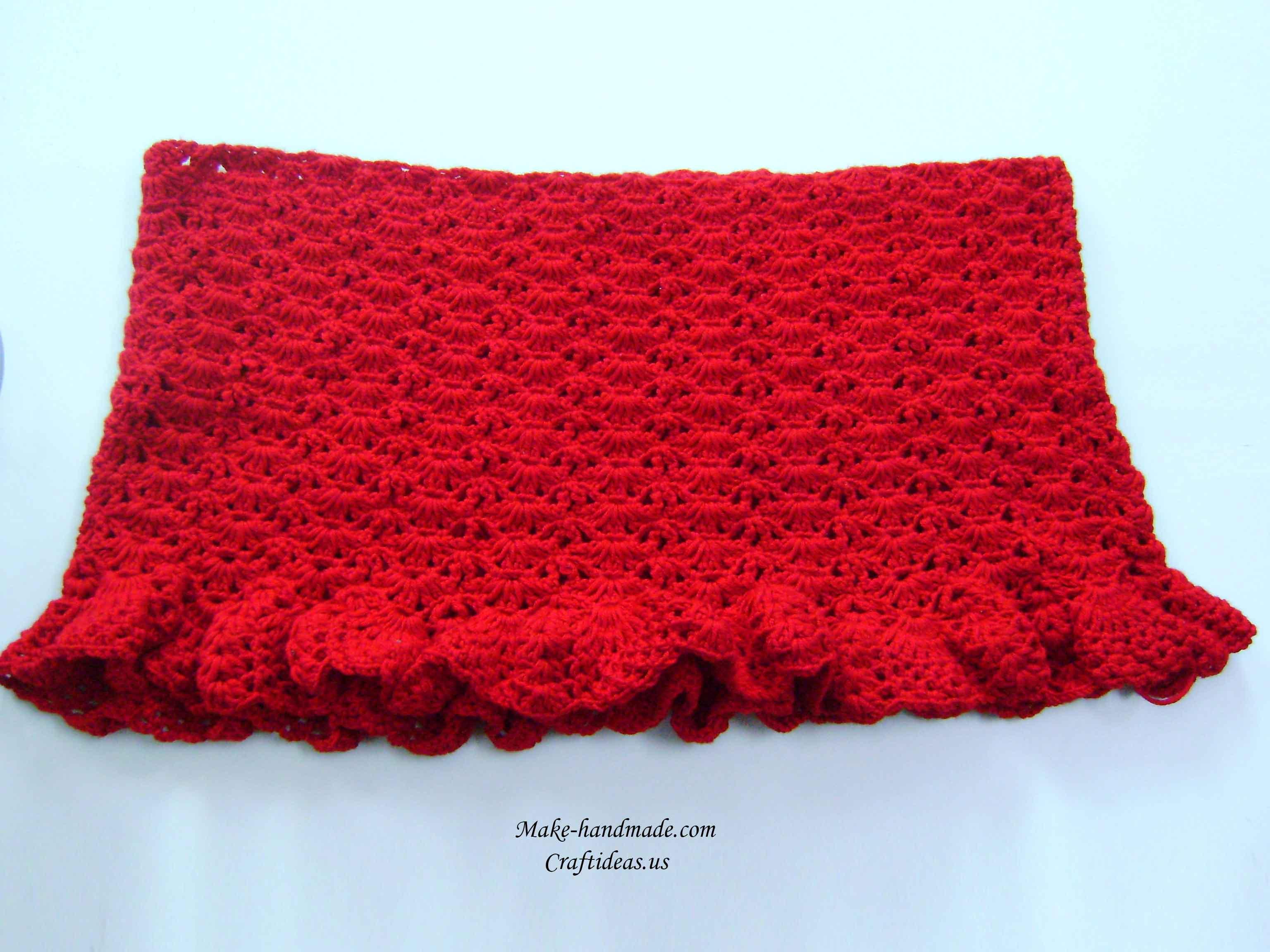 crochet ruffled poncho