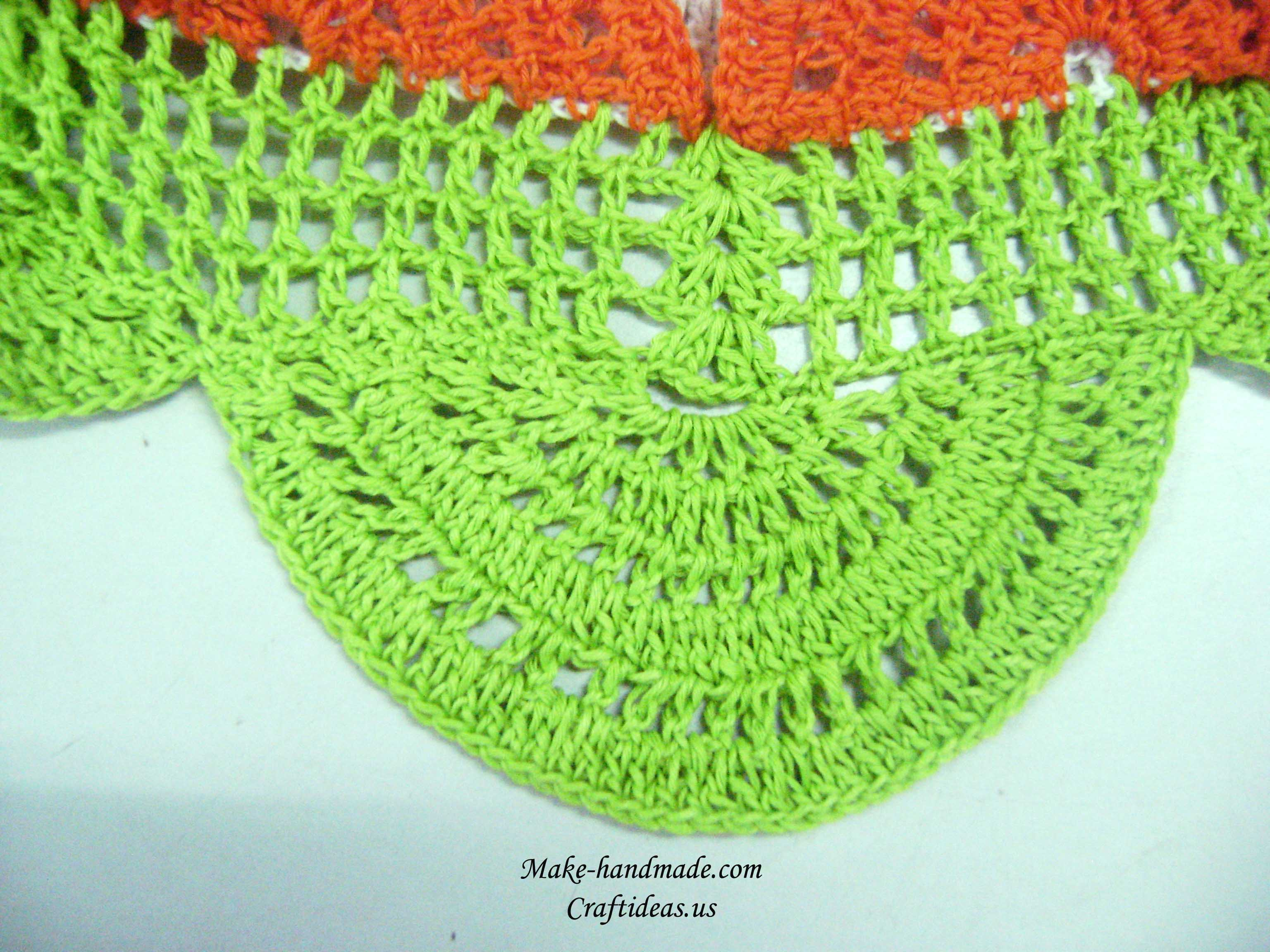 crochet second layer for baby dress
