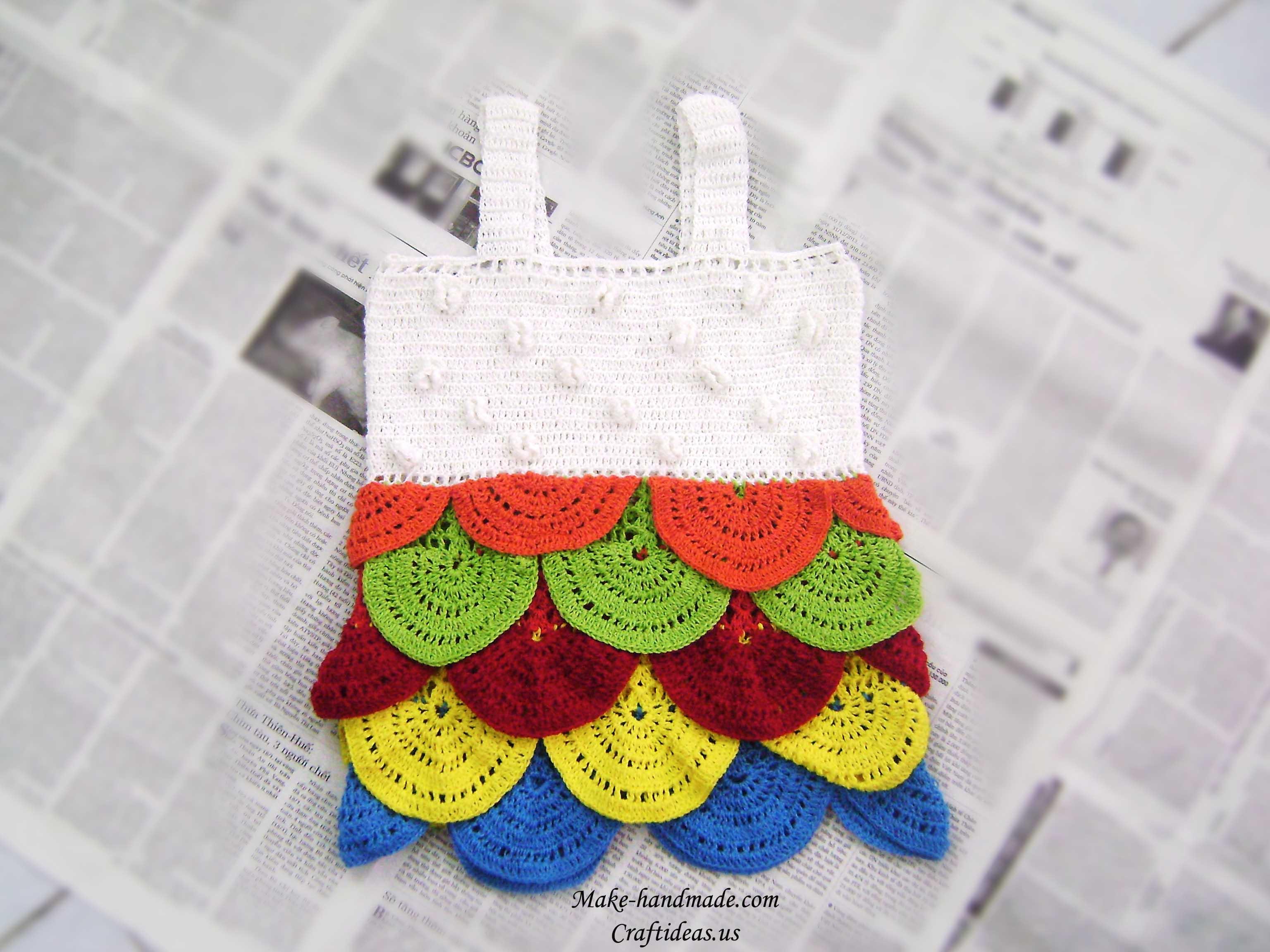 crochet so cute baby dress